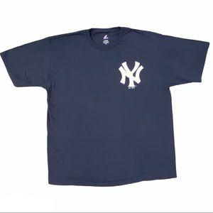 MAJESTIC NY Men's Short Sleeve Tee Navy Size XL